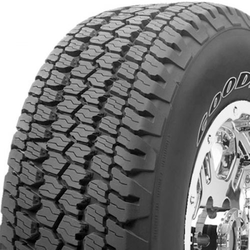 showing detail of the Goodyear Wrangler ATS tires in Houston